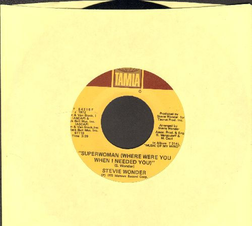 Wonder, Stevie - Superwoman (Where Were You When I Needed You)/I Love Every Little Thing About You - NM9/ - 45 rpm Records