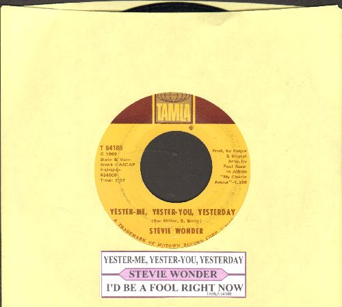 Wonder, Stevie - Yester-Me, Yester-You, Yesterday/I'd Be A Fool Right Now (with juke box label) - NM9/ - 45 rpm Records
