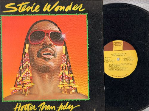 Wonder, Stevie - Hotter Than July: I Ain't Gonna Stand For It, Happy Birthday, Master Blaster (Jammin') (vinyl STEREO LP record, gate-fold cover) - NM9/VG7 - LP Records