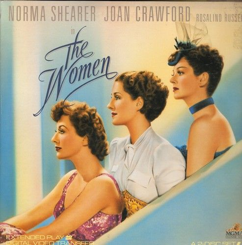 The Women - The Women - The 1939 MGM Classic on 2 LASERDISCs in gate-fold cover (These are LASERDISCS, not any other kind of media!) - NM9/EX8 - LaserDiscs