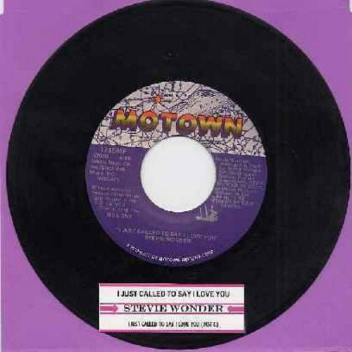Wonder, Stevie - I Just Called To Say I Love You (1984 Oscar Winner Best Song - with juke box label) - EX8/ - 45 rpm Records