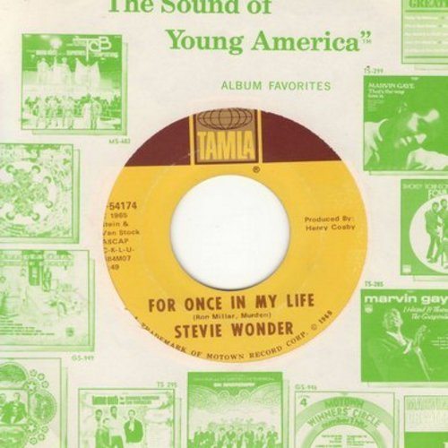 Wonder, Stevie - For Once In My Life/Angie Girl (with Motown company sleeve) - M10/ - 45 rpm Records