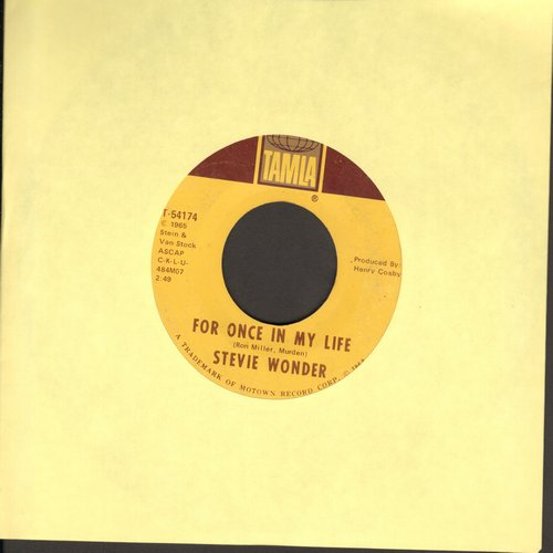 Wonder, Stevie - For Once In My Life/Angie Girl  - EX8/ - 45 rpm Records