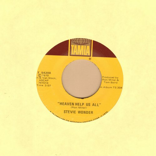 Wonder, Stevie - Heaven Help Us All/I Gotta Have A Song   - EX8/ - 45 rpm Records
