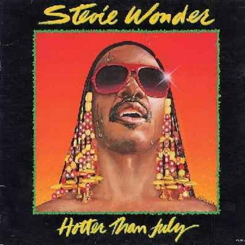 Wonder, Stevie - Hotter Than July: Master Blaster (Jammin'), Happy Birthday (almost 6 minutes long, Tribute to Dr. Martin Luther King Jr.), Did I Hear You Say You Love Me, I Ain't Gonna Stand For It (Vinyl LP record, gate-fold cover) - EX8/VG7 - LP Record