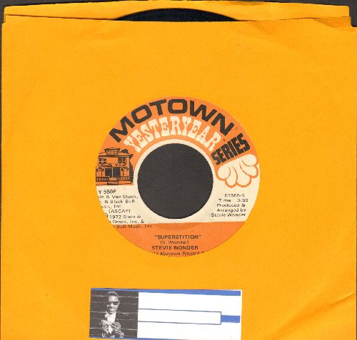 Wonder, Stevie - Superstition/Superwoman (Where Were You When I Needed You) (double-hit re-issue) - VG7/ - 45 rpm Records