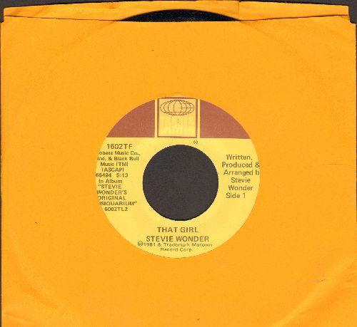 Wonder, Stevie - That Girl/All I Do (sol) - EX8/ - 45 rpm Records