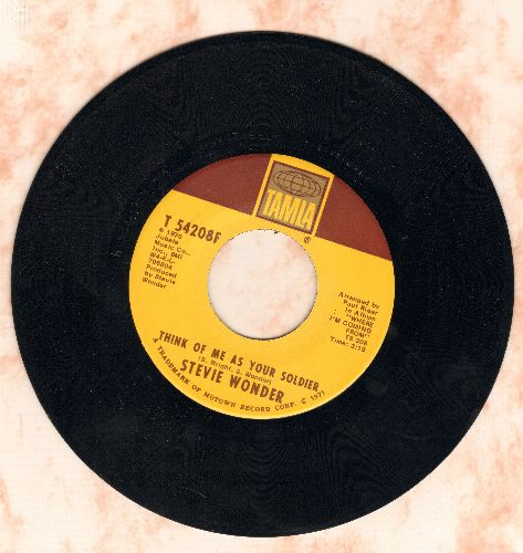 Wonder, Stevie - Think Of Me As Your Soldier/If You Really Love Me (with juke box label) (wol) - EX8/ - 45 rpm Records