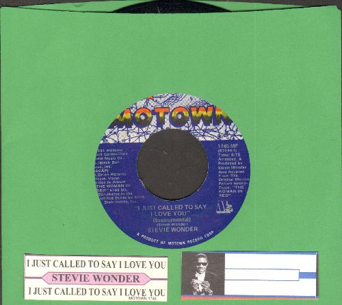 Wonder, Stevie - I Just Called To Say I Love You (1984 Oscar Winner Best Song - with juke box label) - NM9/ - 45 rpm Records