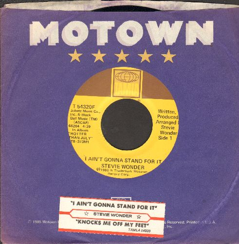 Wonder, Stevie - I Ain't Gonna Stand For It/Knocks Me Off My Feet (with juke box label and company sleeve) - EX8/ - 45 rpm Records