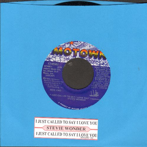 Wonder, Stevie - I Just Called To Say I Love You (1984 Oscar Winner Best Song - MINT condition with juke box label) - M10/ - 45 rpm Records