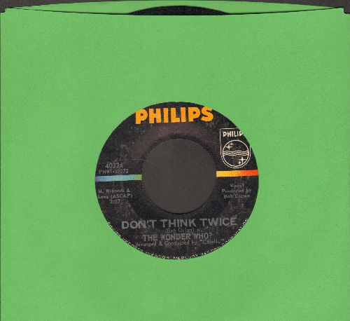 Wonder Who? - Don't Think Twice (remeniscent of Chipmunk-fame)/Sassy (bb) - EX8/ - 45 rpm Records