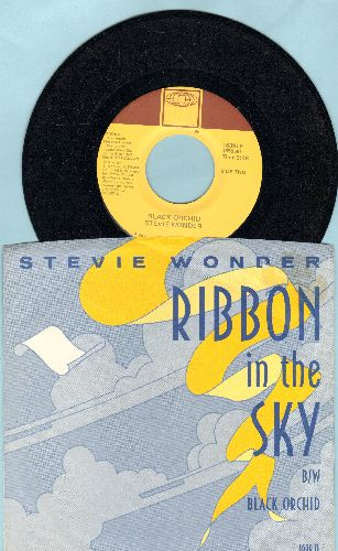 Wonder, Stevie - Ribbon In The Sky/Black Orchid (with picture sleeve)(minor wol) - NM9/EX8 - 45 rpm Records