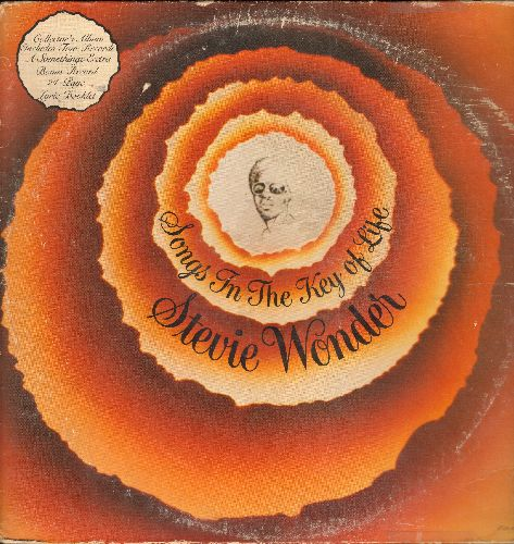 Wonder, Stevie - Songs In The Key Of Life: Sir Duke, Isn't She Lovely, I Wish (2 vinyl STEREO LP record set, gate-fold cover) - VG7/VG7 - LP Records