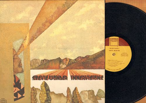Wonder, Stevie - Innervisions: Higher Groud, Too High, He's Misstra Know-It-All, All In Love Is Fair (vinyl MONO LP record, gate-fold cover) - EX8/EX8 - LP Records