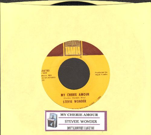 Wonder, Stevie - My Cherie Amour/I Don't Know Why (with juke box label) - NM9/ - 45 rpm Records