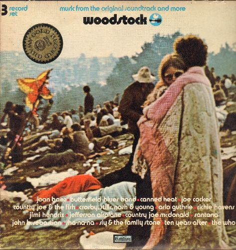 Woodstock - Woodstock - Music From The Original Soundtrack and more (3 vinyl STEREO LP records, gate-fold cover) - EX8/VG7 - LP Records