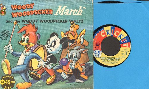 Colt, Bobby, Judy James - Woody Woodpecker March/Woody Woodpecker Waltz (with picture sleeve) - EX8/VG7 - 45 rpm Records