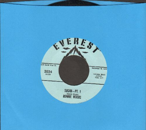 Woods, Ronnie - Sugar (Parts 1+2) (with juke box label) - NM9/ - 45 rpm Records