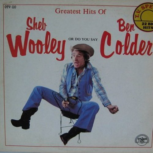 Wooley, Sheb (Ben Colder) - Greatest Hits: Purple People Eater, Runnin' Bear, That's My Pa, Hello Walls #2, Divorce #2, Ruby, I Walk The Line #2 (Vinyl LP record) - NM9/EX8 - LP Records