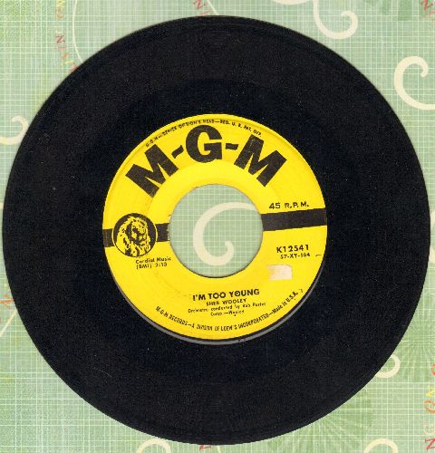 Wooley, Sheb - Recipe For Love/I'm Too Young  - EX8/ - 45 rpm Records