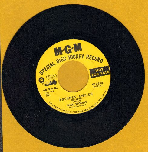 Wooley, Sheb - Anchors Aweigh/Tonight's The Night My Angel's Halo Fell (DJ advance pressing) - NM9/ - 45 rpm Records