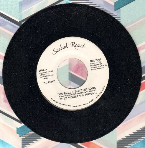 Wooley, Sheb & Friend - The Belly Button Song (double-A-sided DJ advance pressing) - NM9/ - 45 rpm Records