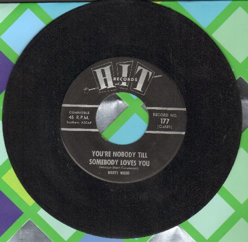 Wood, Marty - You're Nobody Till Somebody Loves You/Speaking Of Broken Hearts (by John Preston on flip-side) - EX8/ - 45 rpm Records