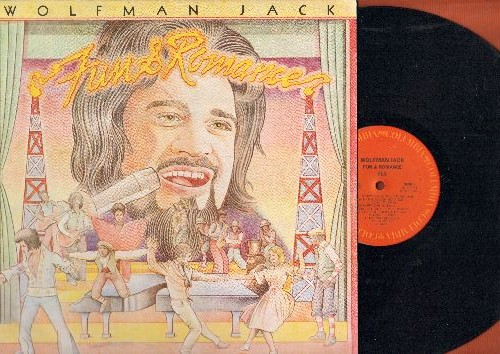 Wolfman Jack - Fun & Romance: Ghost Story, Tears On My Pillow, Dr. Feel Good, Short Fat Fannie, Blueberry Hill/Blue Monday (vinyl STEREO LP record, DJ advance pressing)) - NM9/NM9 - LP Records