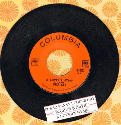 Worth, Marion - A Lover's Hymn/It's So Funny I Could Cry (with juke box label and Columbia company sleeve) - NM9/ - 45 rpm Records