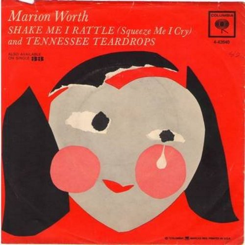 Worth, Marion - Shake Me I Rattle (Sqeeze Me I Cry)/Tennessee Teardrops  - NM9/EX8 - 45 rpm Records