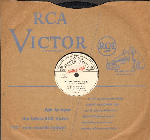 Valentine, Judy - That's What I Want For Christmas/If I Forget You (by Merv Griffin) (10 inch 78 rpm record, RARE DJ advance pressing with RCA company sleeve) - EX8/ - 78 rpm