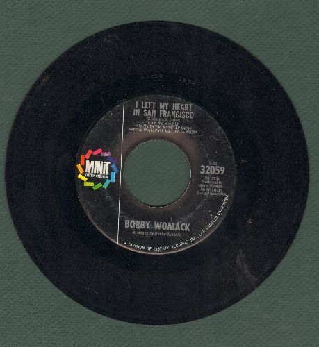 Womack, Bobby - I Left My Heart In San Francisco/Love, The Time Is Now - EX8/ - 45 rpm Records