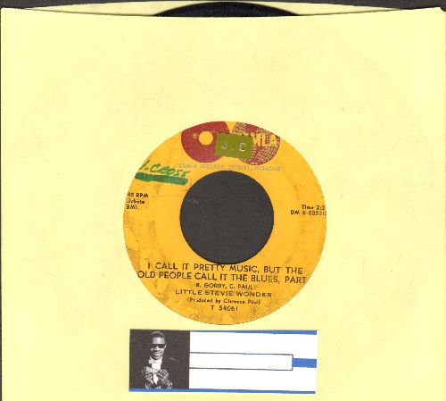 Wonder, Little Stevie - I Call It Pretty Music, But The Old People Call It The Blues (Parts 1 + 2) (bb) (Little Stevie Wonders FIRST Motown record! wol/sol) - VG7/ - 45 rpm Records