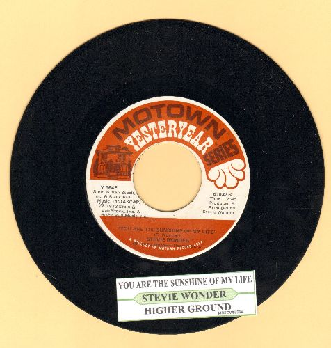 Wonder, Stevie - You Are The Sunshine Of My Life/Higher Ground (double-hit re-issue with juke box label) - NM9/ - 45 rpm Records
