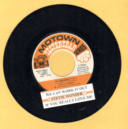 Wonder, Stevie - We Can Work It Out/If You Really Love Me (double-hit re-issue with juke box label) - EX8/ - 45 rpm Records