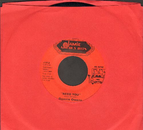 Owens, Donnie - Need You/Caribbean by Mitchell Torok on flip-side) - NM9/ - 45 rpm Records