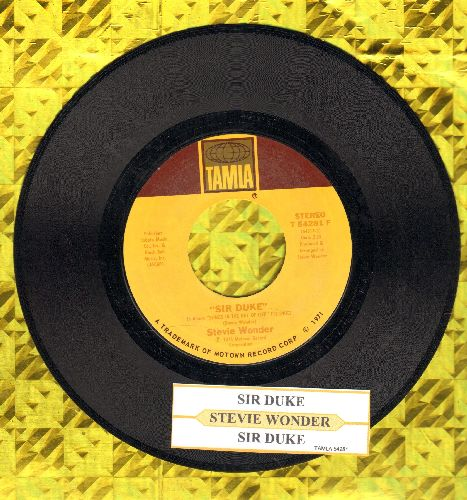 Wonder, Stevie - Sir Duke (You Can Feel It All Over)/He's Misstra Know-It All (with juke box label) - VG7/ - 45 rpm Records