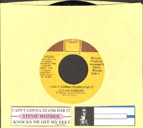 Wonder, Stevie - I Ain't Gonna Stand For It/Knocks Me Off My Feet (with juke box label) - M10/ - 45 rpm Records