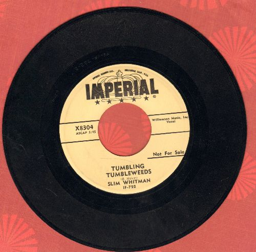 Whitman, Slim - Tumbling Tumbleweeds/Tell Me (authentic-looking re-issue) - NM9/ - 45 rpm Records