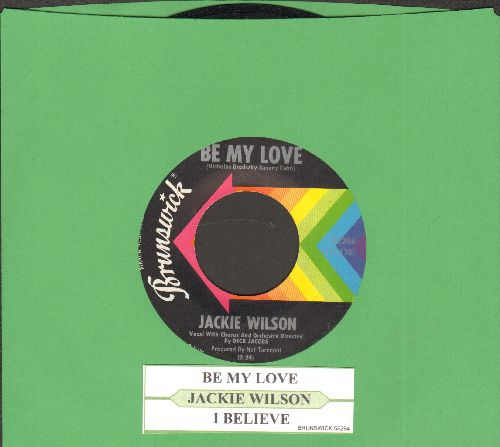 Wilson, Jackie - Be My Love/I Believe (with juke box label) - EX8/ - 45 rpm Records