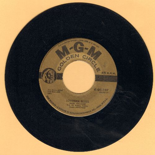 Williams, Hank - Lovesick Blues/Your Cheatin' Heart (double-hit re-issue) - EX8/ - 45 rpm Records