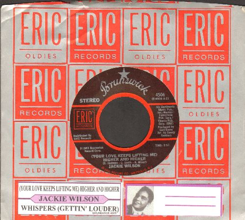 Wilson, Jackie - (Your Love Keeps Lifiting Me) Higher And Higher/Whispers (Getting' Louder) (authentic-looking re-issue with juke box label) - NM9/ - 45 rpm Records