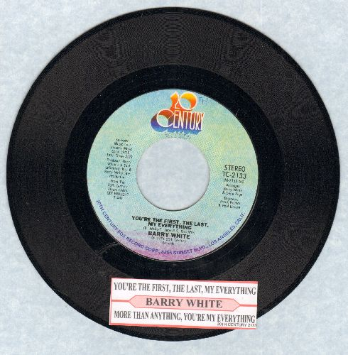 White, Barry - You're The First, The Last, My Everything/More Than Anthing You're My Everything (with juke box label) - NM9/ - 45 rpm Records