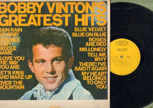 Vinton, Bobby - Greatest Hits: Blue Velvet, Roses Are Red, Blue On Blue, Mr. LonelyOver The Mountain (vinyl MONO LP record) - NM9/VG7 - LP Records