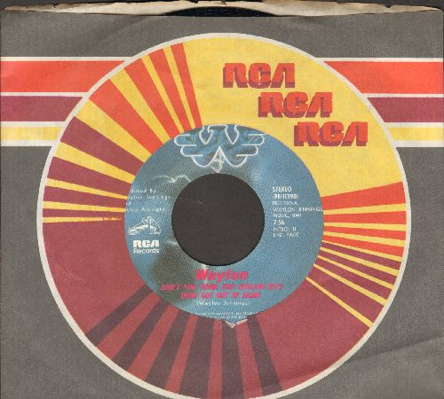 Waylon (Jennings) - Don't You Think This Outlaw Bit's Done Got Out Of Hand/Girl I Can Tell (You're Trying To Work It Out) (with RCA company sleeve) - NM9/ - 45 rpm Records