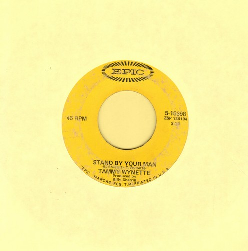 Wynette, Tammy - Stand By Your Man/I Stayed Long Enough - VG6/ - 45 rpm Records