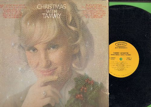 Wynette, Tammy - Christmas With Tammy: Silent Night, White Christmas, Joy To The World, Blue Christmas (vinyl STEREO LP record) - NM9/VG7 - LP Records