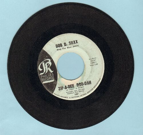 Soxx, Bob B. & The Blue Jeans - Zip-A-Dee Doo-Dah/Flip And Nitty (light blue label early issue) (wol, sol) - EX8/ - 45 rpm Records