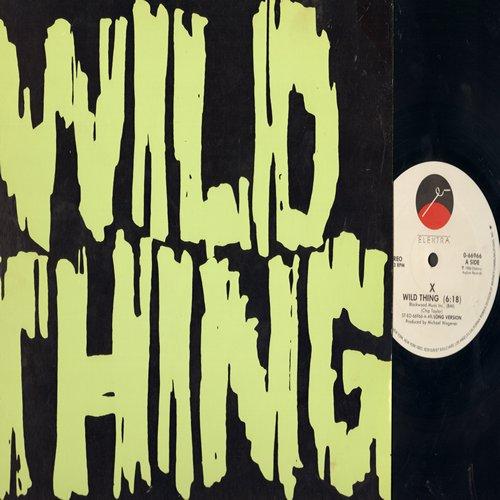 X - Wild Thing (6:18 minutes Extended Dance Club version)/True Love Pt. #2 (5:14 minutes version) (12 inch vinyl Maxi Single) - NM9/EX8 - Maxi Singles